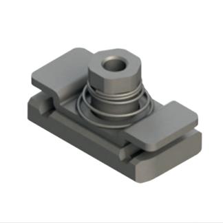 Fjädrad skenadapter för hydraulikklammer till HILTI-skenor mfl